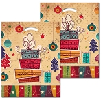 Holiday Shopping Design Poly Boutique Bags