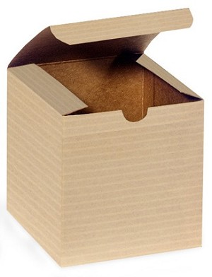 One Piece Folding Gift Box- Colors- 8 x 8 x 3-1/2