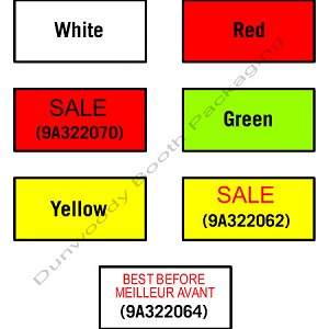 Labels for Avery Dennison M-1 Labeler - Yellow