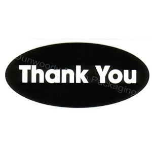 Oval Thank You Labels