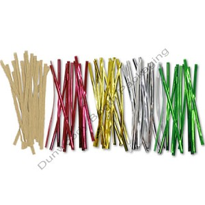 "Metallic Twist Ties - 4"" Long - 100 Per Pack"