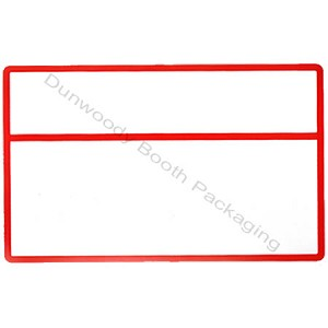 Erasable Plastic Sign Cards - Blank