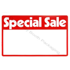 "Erasable Plastic Sign Cards - ""Special Sale"""
