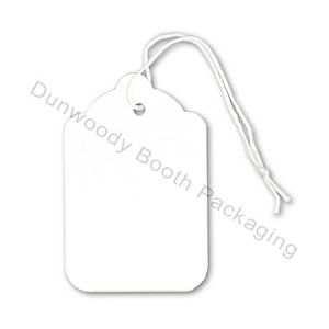 Blank White String Tags - #4