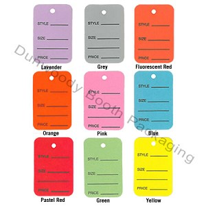 "Coloured One Part Tags - 1-1/4""x1-7/8"""
