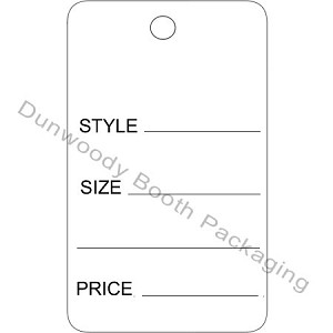 "Large One Part White Tags - 1-3/4""x2-7/8"""