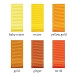 Grosgrain Ribbon - 1-1/2in. x 50 yds. - Shades of Orange and Yellow