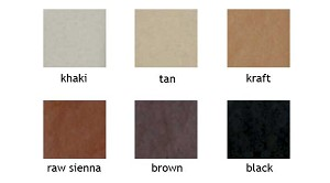 Colored Tissue- Shades of White, Black, Brown