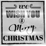 Merry Christmas Label - Metallic Silver