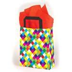 Premium Patterned Frosted Shoppers