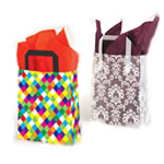 Premium Patterned Frosted Shoppers - 5