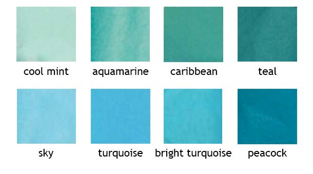 Colored Tissue Shades Of Blue