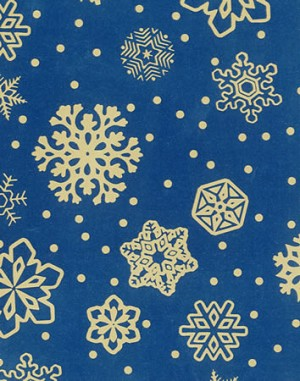 "24""x200ft Roll - 4169 Sparkling Snowflakes Gift Wrap"