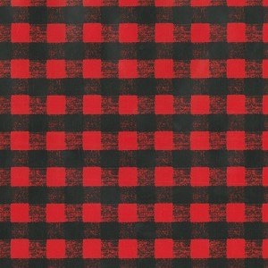 "24""x833ft Roll - 0202 Red & Black Gingham Gift Wrap"