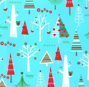 "24""x400ft Roll - 0240 Christmas Forest  Gift Wrap"