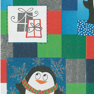 "24""x400ft Roll - 0250 Pudgy Penguins Gift Wrap"