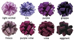 Double Face Satin Ribbon  - 1-1/2 in. x 50 yds -  Shades of Purple