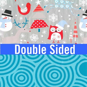 "24""x400ft Roll - 6339 Snow Play Gift Wrap  (reversible)"