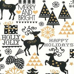 "24""x400ft Roll - 6354 Merry & Bright Gift Wrap"
