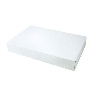 "Two Piece Pop-up Apparel Boxes- White Gloss- 17"" x 11"" x 2-1/2"""