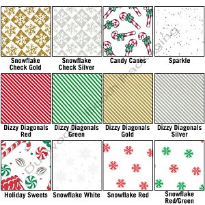 "Christmas Patterned Tissue Paper - 20""x30"""