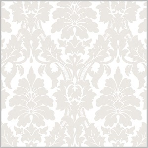 "24""x200ft Roll - 2501 Gothic Flourish Pearl Gift Wrap"