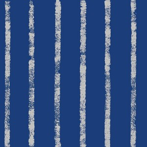 "24""x200ft Roll - 4009 Bands of Navy/Silver Gift Wrap"