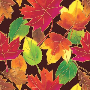 "24""x200ft Roll - 6229 Autumn Leaves Gift Wrap"