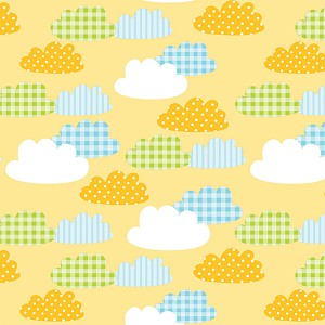 "24""x200ft Roll - 7022 Gingham Clouds Gift Wrap"