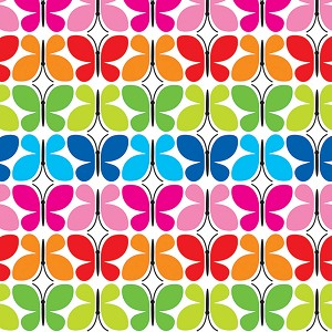 "24""x200ft Roll - 6322 Butterfly Reflections Gift Wrap"