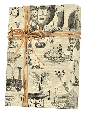 "24""x200ft Roll - 7043 Extraordinary Voyages Gift Wrap"