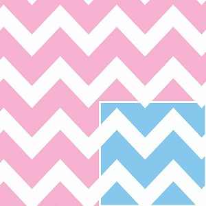 "24""x200ft Roll - 5476 Baby Chevron Reversible Gift Wrap"