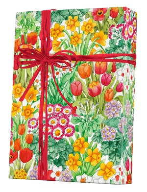 "24""x200ft Roll - 7033 The Cutting Garden Gift Wrap"