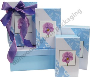 Purple Pansy Nested Boxes