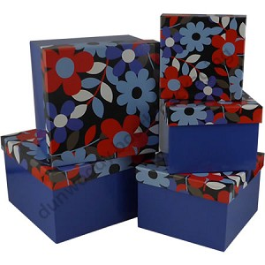 Blue Flower Nested Boxes
