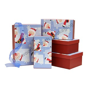 Red & Blue Santa Nested Boxes