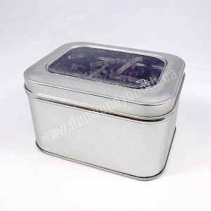 "Window Tin Boxes - 4-1/8""x3""x2-1/2"""