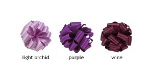Double Face Satin Ribbon  - 5/8 in. x 100 yds -  Shades of Purple
