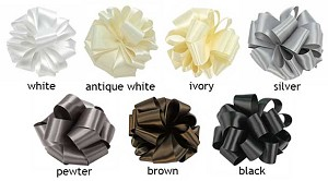 Double Face Satin Ribbon  - 5/8 in. x 100 yds -  Shades of White Black Brown