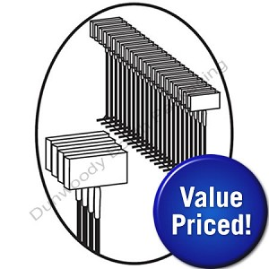 Value Priced Fine Fabric Fasteners - Clear - 3""