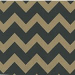 "24""x200ft Roll - 1793 Black and Kraft Chevron Gift Wrap"