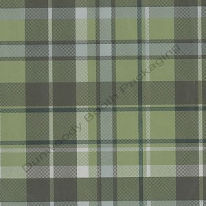 "24""x833ft Roll - 6278 Kensington Plaid/kraft Gift Wrap"