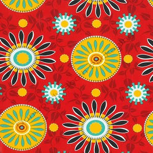 "24""x400ft Roll - 6301 Suzani Sunrise Gift Wrap"