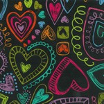 "24""x400ft Roll - 5488 Heart Doodles Gift Wrap"