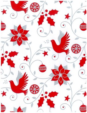 "24""x200ft Roll - 4177 Skandia Dove Gift Wrap"
