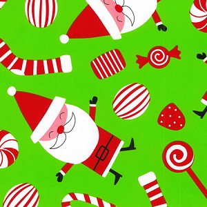 "24""x833ft Roll - 4247 Peppermint Santa Gift Wrap"