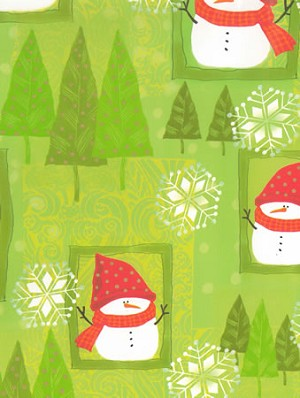 "24""x400ft Roll - 5471 Snowman Sweetie Gift Wrap"