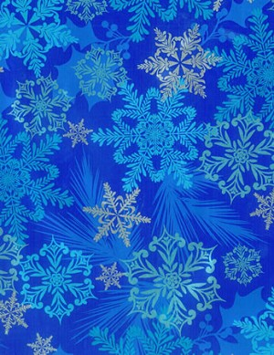 "24""x200ft Roll - 9053 Snowflake Swirl on Foil Gift Wrap"