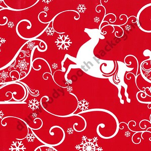 "24""x400ft Roll - 3160 Sleigh Ride Gift Wrap"