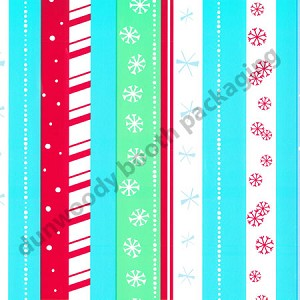 "24""x200ft Roll - 4263 Snowflake Stripe Gift Wrap"
